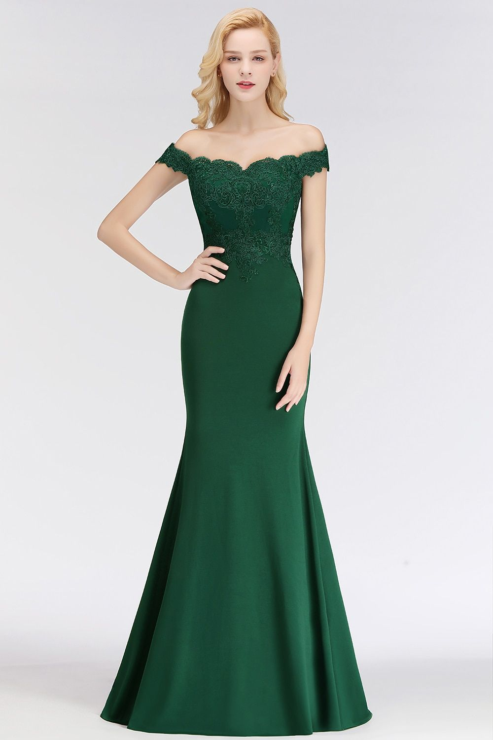 Customized 34 Colors Green Lace Evening Dresses 2018 Elegant Off Shoulder  Sweetheart Vintage Evening Gown Robe 3a3c201de530