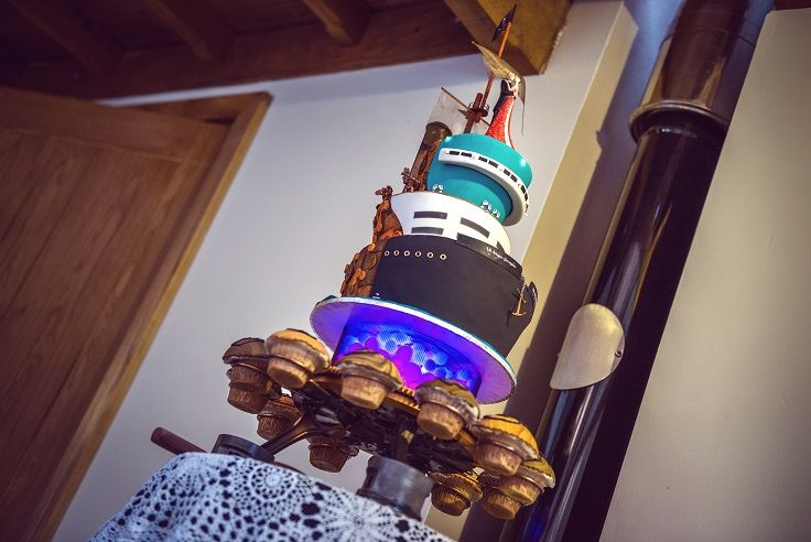 Steampunk Airship Pirates Wedding Cake ... Our official photographers pic...