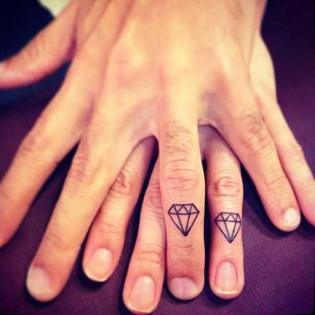 0356c4d2c2e40 21 Expertly Executed Diamond Tattoos | — Tattoos — | Finger tattoo ...