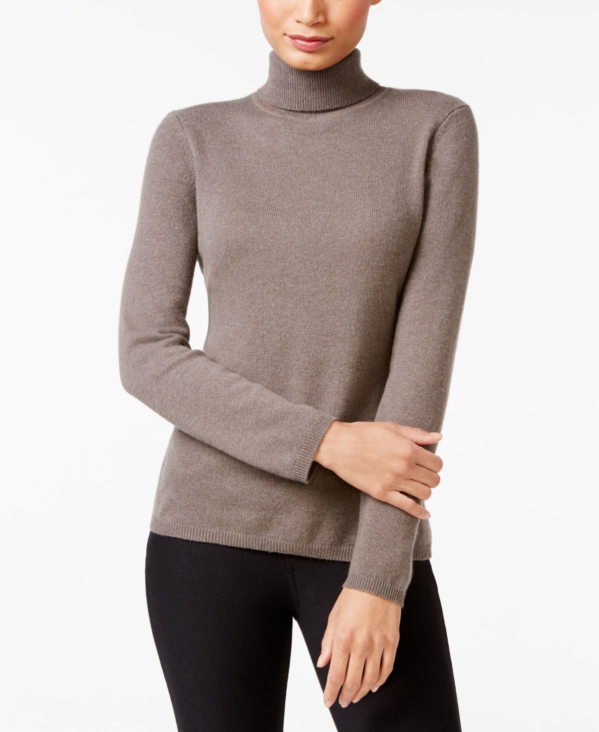 f089c660657 Charter Club Cashmere Turtleneck Sweater