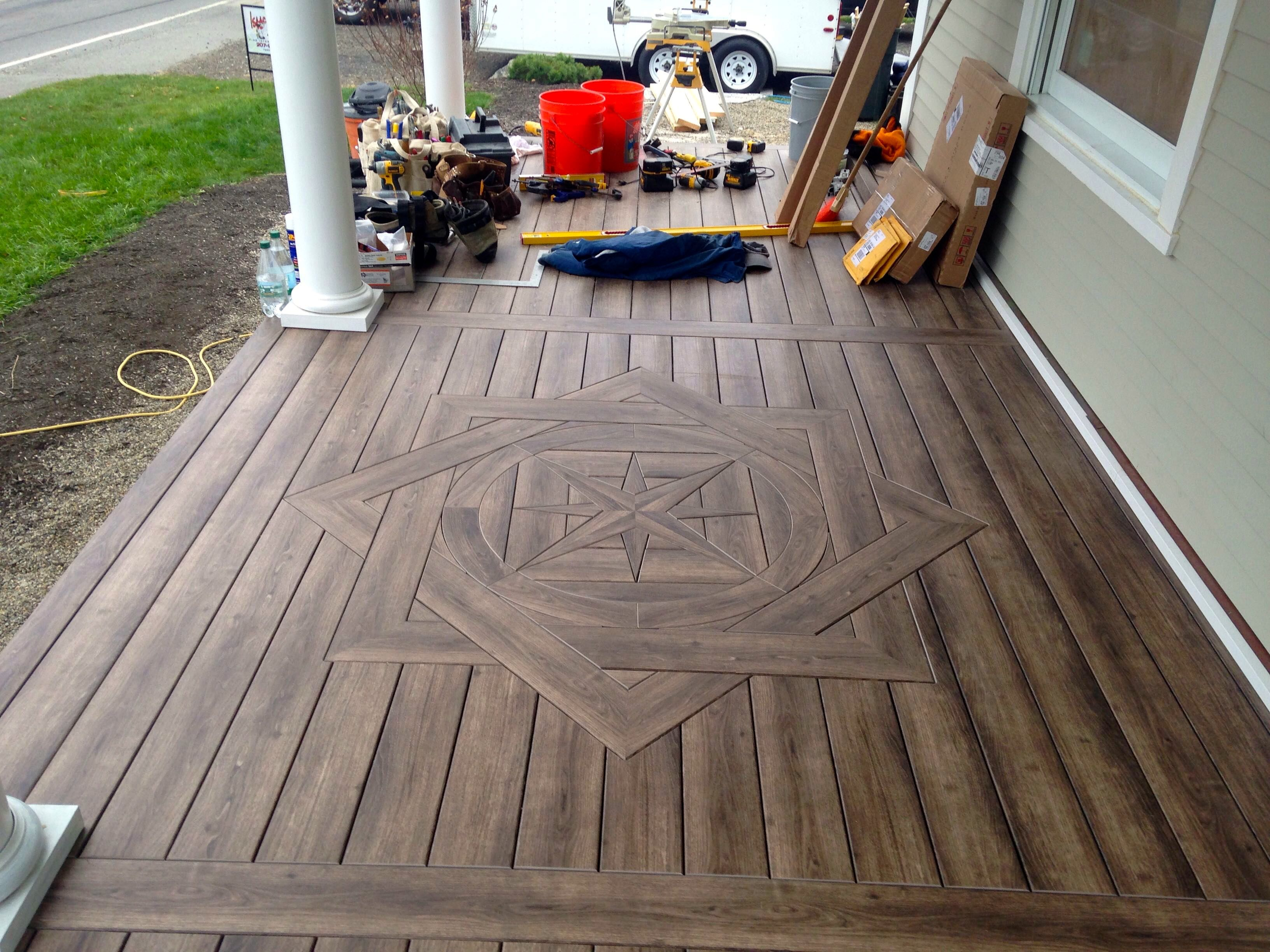 Zuri From Royal Building Products With A Compass Rose In