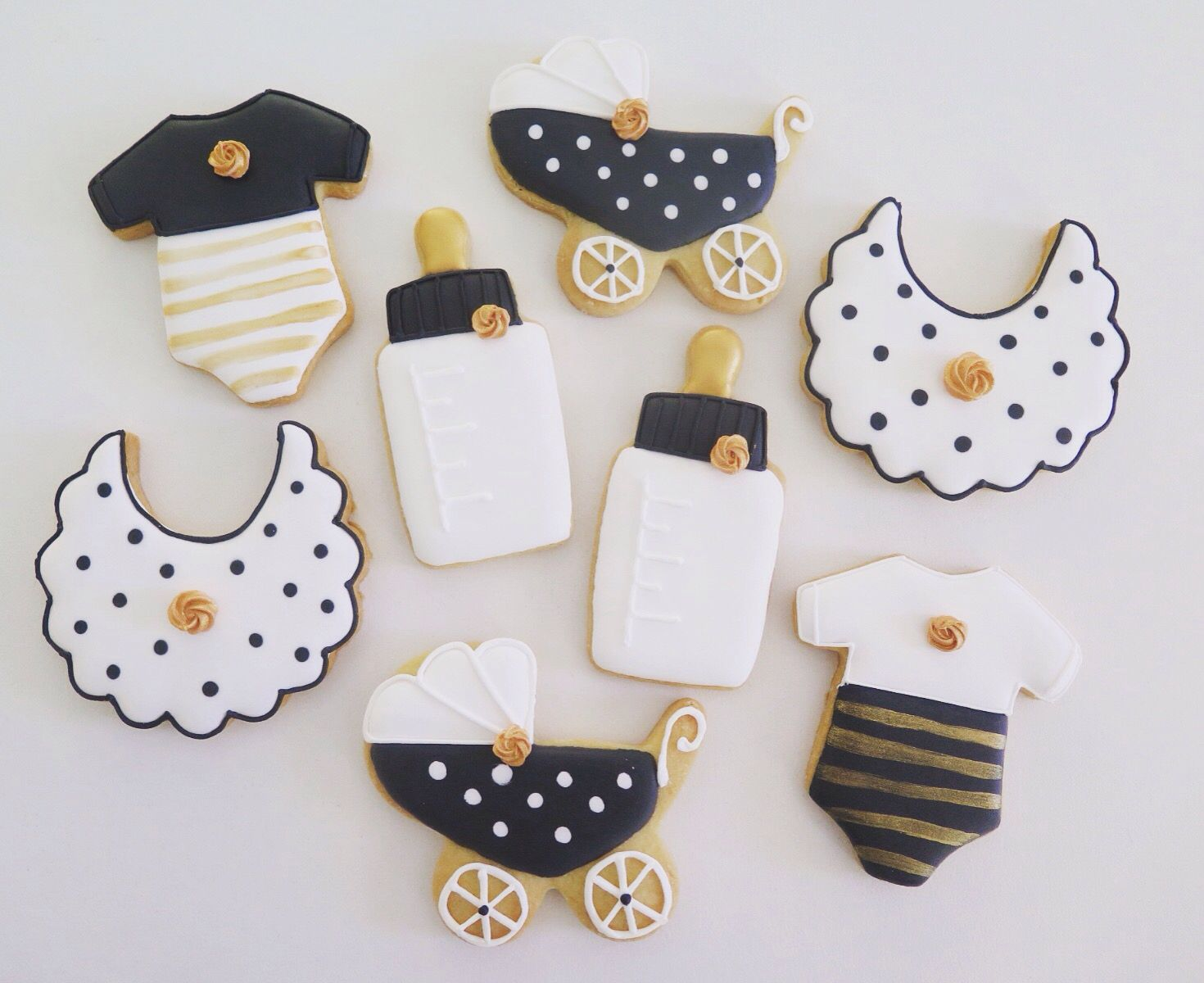 Baby Shower Cookies, Love The Black White And Gold. For Maternity  Inspiration, Shop