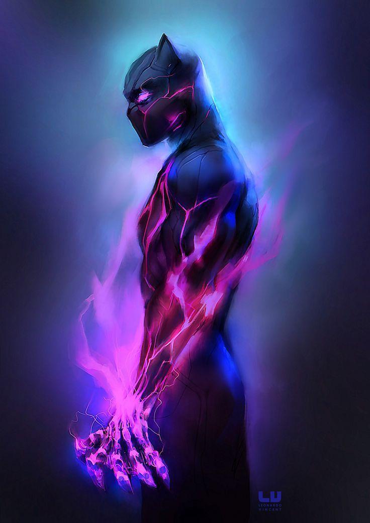 Black Panther (by leonardovincent.deviantart.com)   Wallpaper   Marvel Zeichnungen, Superhelden, Comic zeichnungen