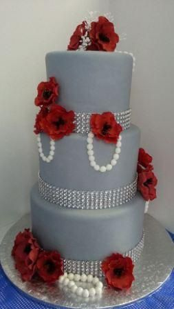 grey wedding cake with pink flowers grey and wedding cake wedding cakes fondant 14985