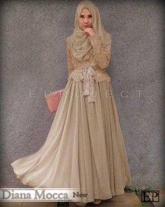 Gamis Remaja Trendy Diana Mocca Model Gamis Terbaru Baju Muslim Pakaian Wanita