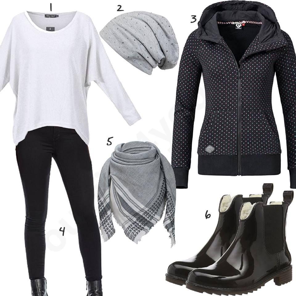 Lässiger Damen Style in Schwarz, Grau und Weiß | Frauen