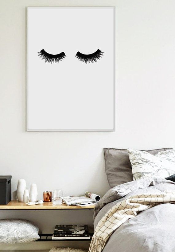 lashes scandinavian print bedroom print home poster minimalist poster affiche. Black Bedroom Furniture Sets. Home Design Ideas