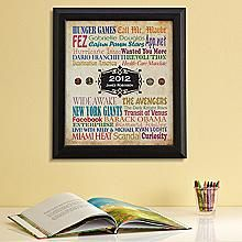 Colorful Year You Were Born Print