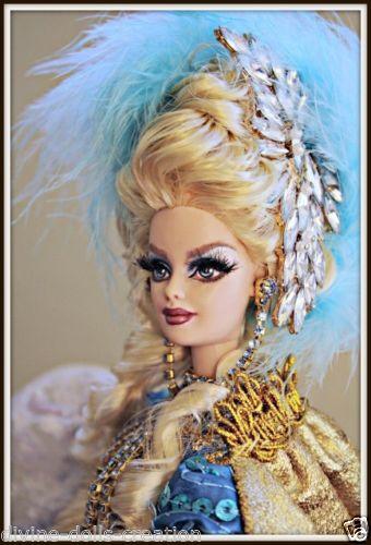 ooak dressed repaint barbie marie antoinette doll queen of france royal custom - Barbie Marie