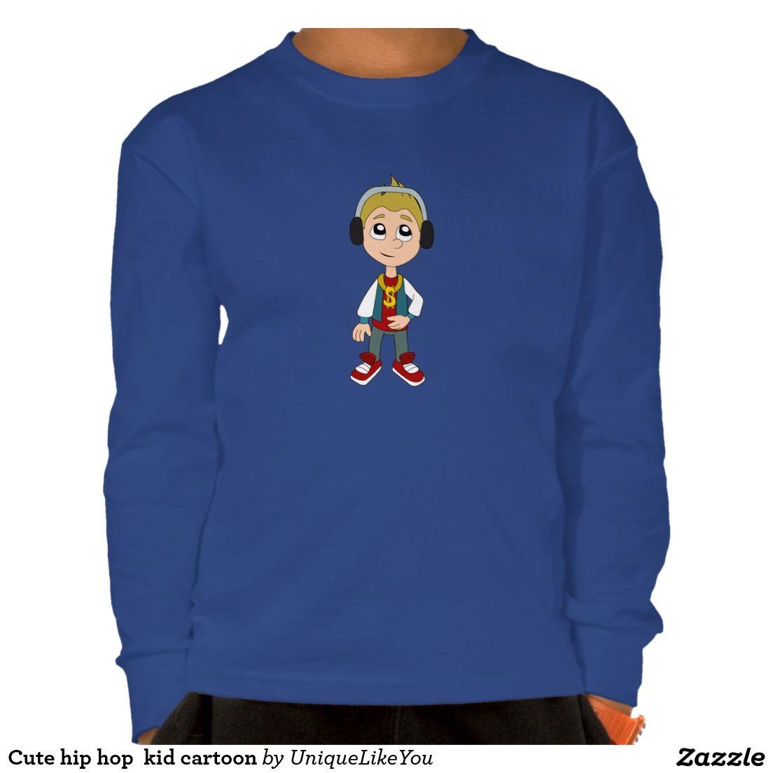 Cute hip hop  kid cartoon t-shirt