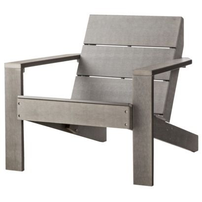 Threshold Bryant Faux Wood Patio Adirondack Chair In Gray Target