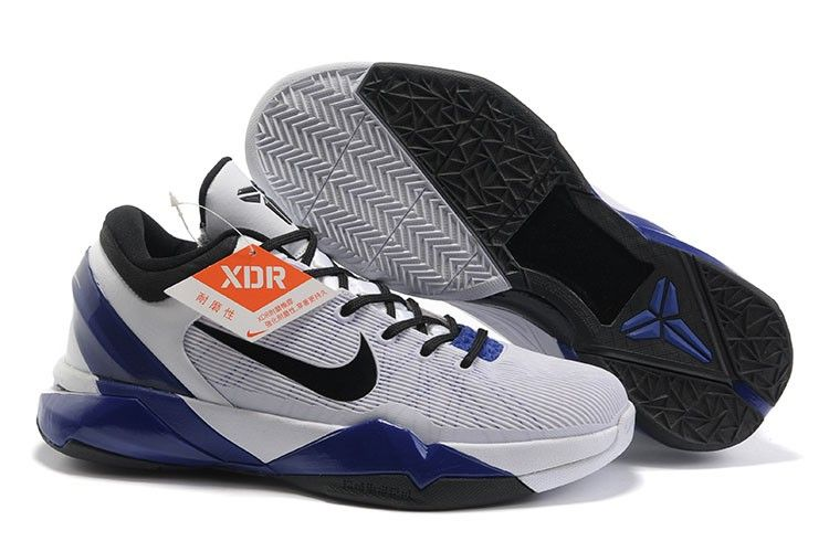 official photos 50a17 ba4fe Nike Zoom Kobe VII Männer Schuhe Weiß Schwarz Lila
