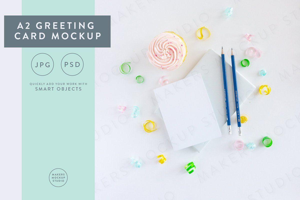 Birthday Card Mockup Set In 2020 Birthday Cards Stationery Design Cards