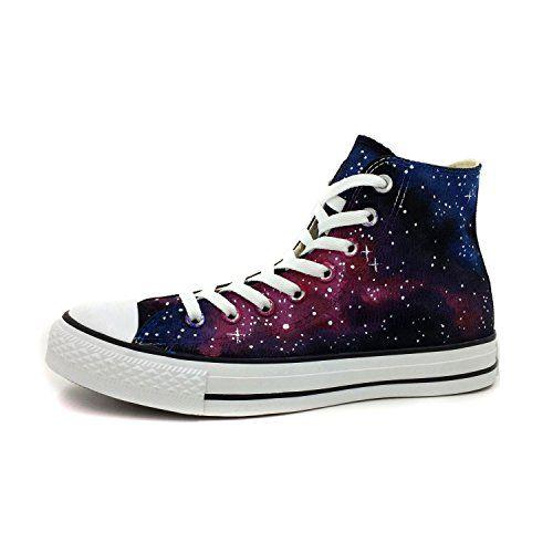 0b18ce2e87a4e7 Converse All Star Purple Nebula Galaxy Hand Painted High Top Canvas Shoes  Women Men Sneakers (