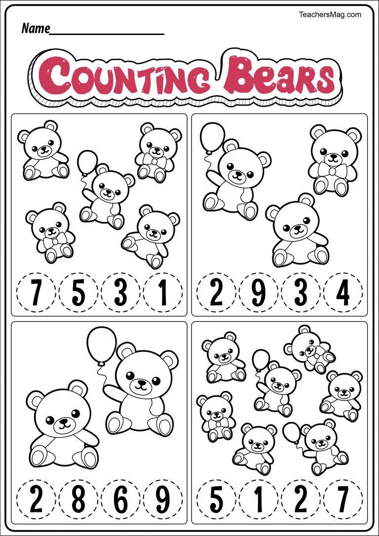 Free Bear Themed Printable Worksheets Teachersmag Com Bear Theme Preschool Kindergarten Worksheets Printable Shape Worksheets For Preschool [ 1086 x 768 Pixel ]