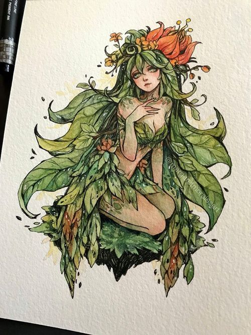 Fantasy Ladies Watercolor Art -  Fantasy Ladies Watercolor Art   
