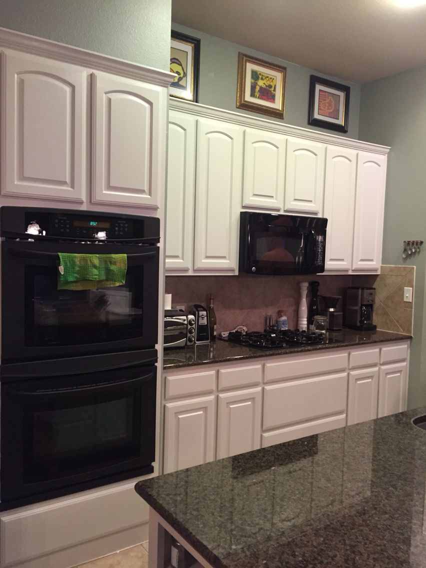 After  Painted Oak Kitchen Cabinets Using Fine Paints Of Europe Adorable Repainting Oak Kitchen Cabinets Decorating Inspiration