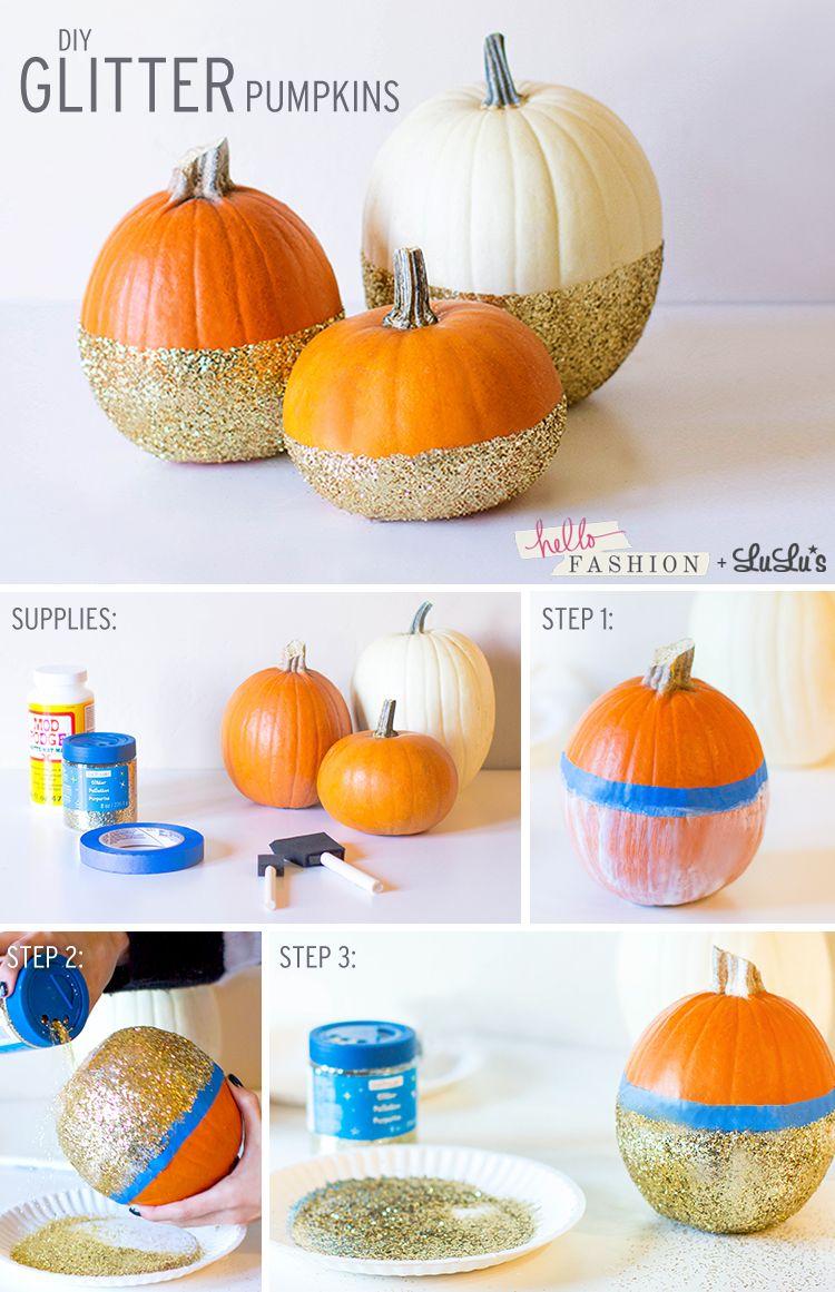 Diy Glitter Pumpkins With Christine Of Hello Fashion Glitter