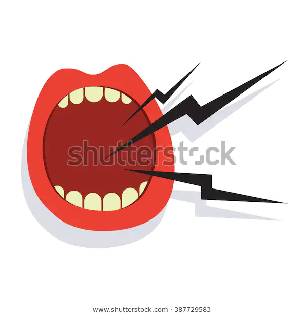 Cartoon Screaming Mouth Icon Isolated On Stock Vector Royalty Free 387729583 Screaming Mouth Cartoon Fabric Paint