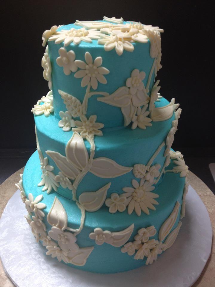 Outstanding Miniature 16 Tall Tiffany Blue Birthday Cake Samantha Lucero Funny Birthday Cards Online Benoljebrpdamsfinfo