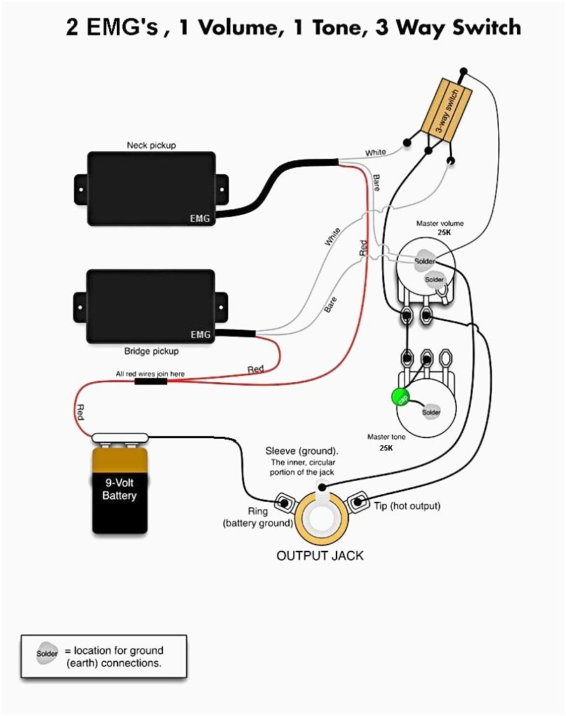 Active Bass Guitar Wiring Diagram