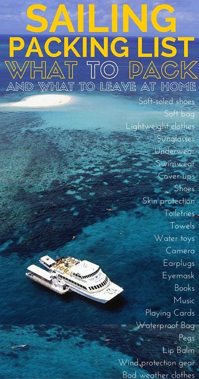 Sailing Packing List For Your 2020 Holiday