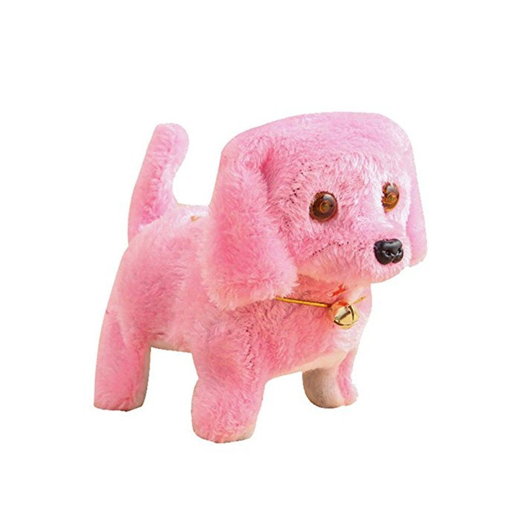 Walking Barking Electronic Dog Toy Puppy Sound Light Plush Stuff