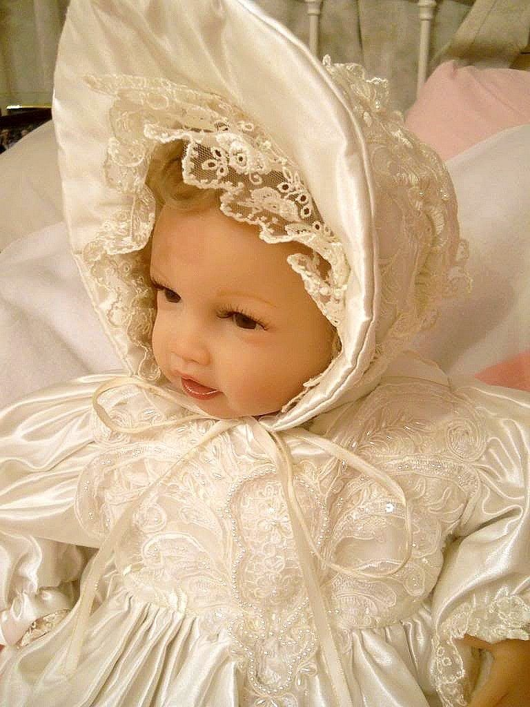 Hair accessories for babies ebay - Exquisite One Of A Kind Christening Vintage Lace Baby Or Reborn Hat