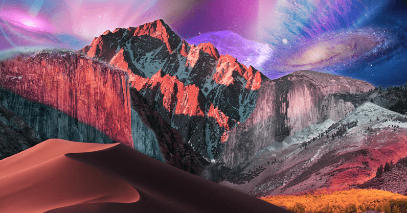 This genius combined every macOS 10 wallpaper into a