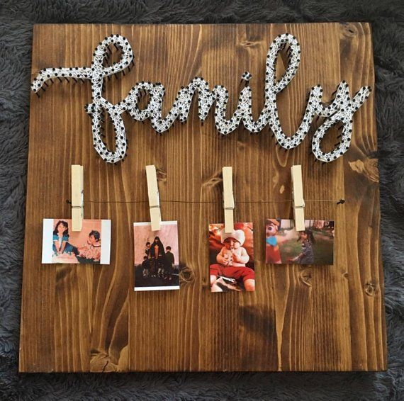 MADE TO ORDER Family Picture Hanger String Art