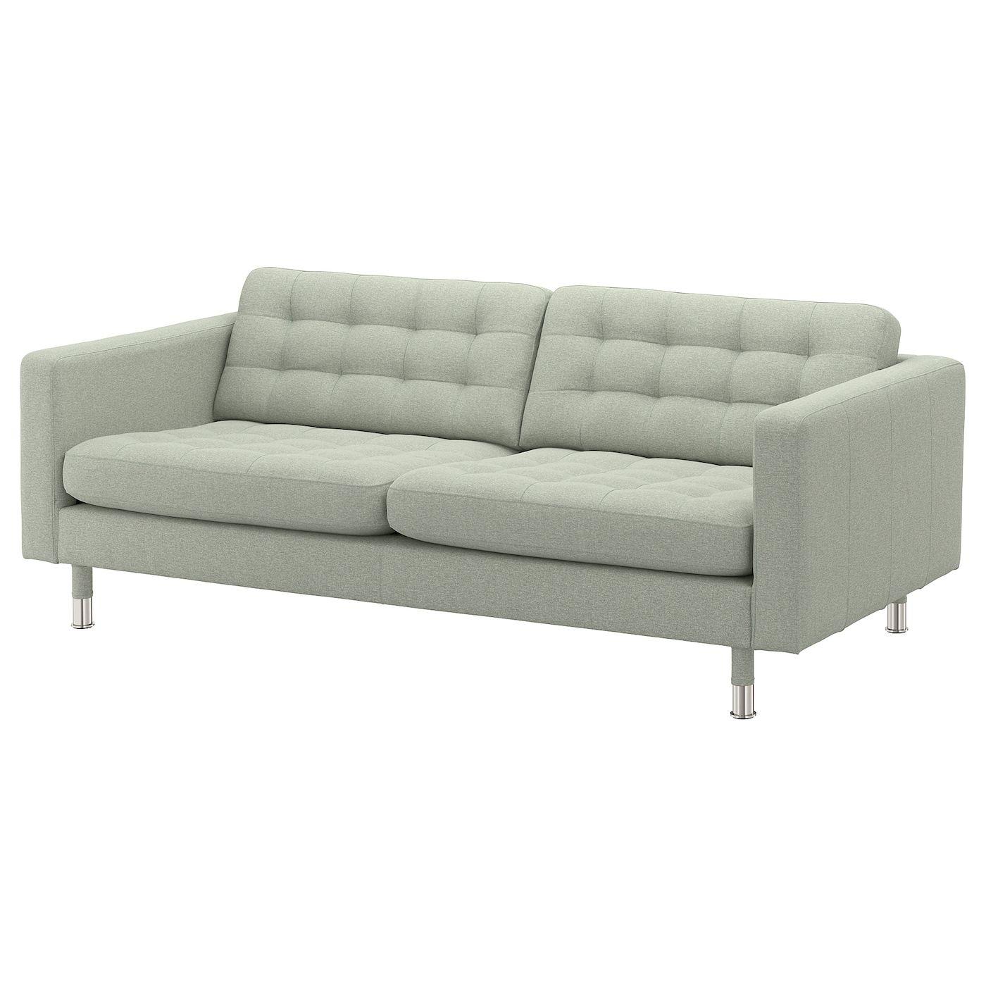 Landskrona 3er Sofa Gunnared Hellgrun Heute Noch Kaufen Ikea Osterreich In 2020 3er Sofa Sofa Stoff Couch Mobel