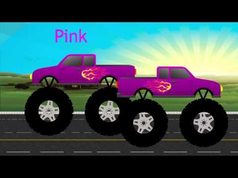 Monster Trucks Teaching Children Colors Monster Trucks Teaching Kids Truck Videos For Kids