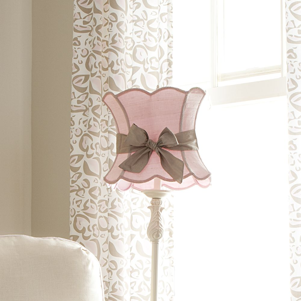 Pink Lamp Shade with Sash from Carousel Designs. An exquisite pink ...