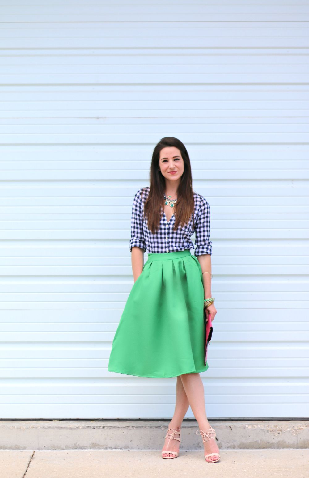 f392e0882d68 kelly green midi skirt, eating recovery day, green midi skirt. colorful  work outfit, spring work outfit, stephanie ziajka, Diary of a Debutante