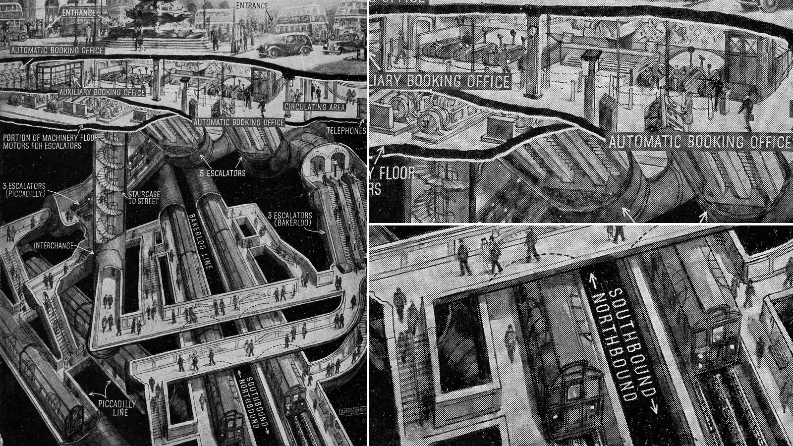 1930s picadilly station in a different perspective