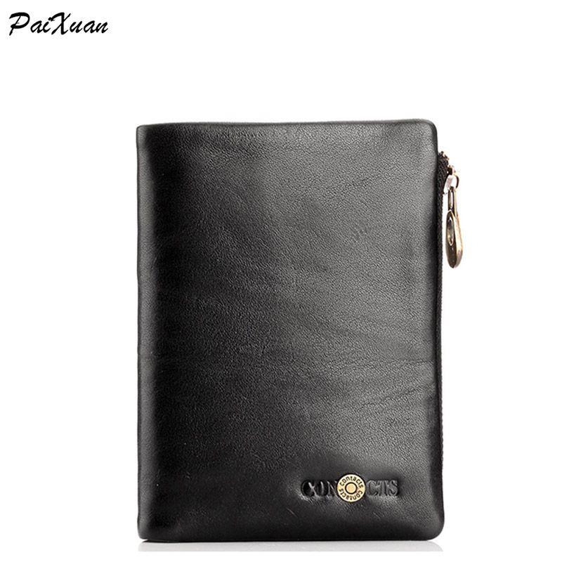 $45.08 (Buy here: https://alitems.com/g/1e8d114494ebda23ff8b16525dc3e8/?i=5&ulp=https%3A%2F%2Fwww.aliexpress.com%2Fitem%2F2016-Hot-sale-short-wallet-purse-genuine-leather-zipper-hasp-men-wallet-men-casual-bag-business%2F32712300641.html ) 2016 Hot sale short wallet purse genuine leather zipper hasp men wallet  men casual bag business card holder men wallets cuzdan for just $45.08