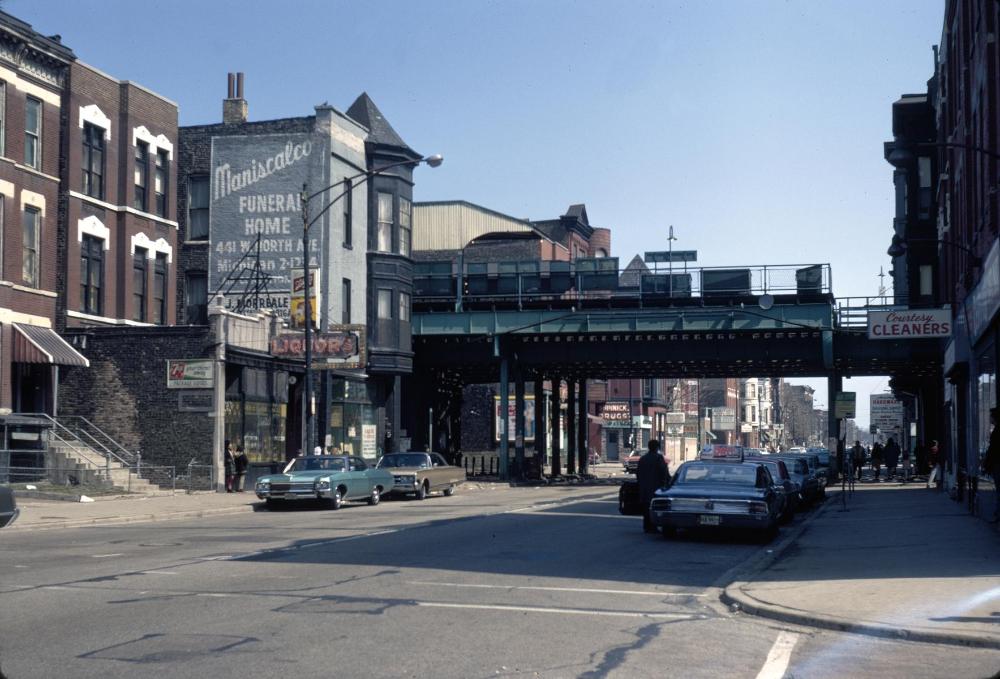 ECC Armitage Avenue and Armitage CTA station in 2020