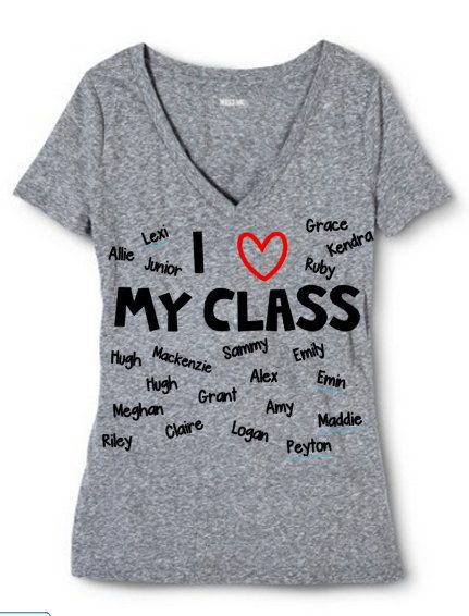 9048f17fcb8f3 I love my class Teacher t-shirt School T-shirt Classroom | Kinder ...