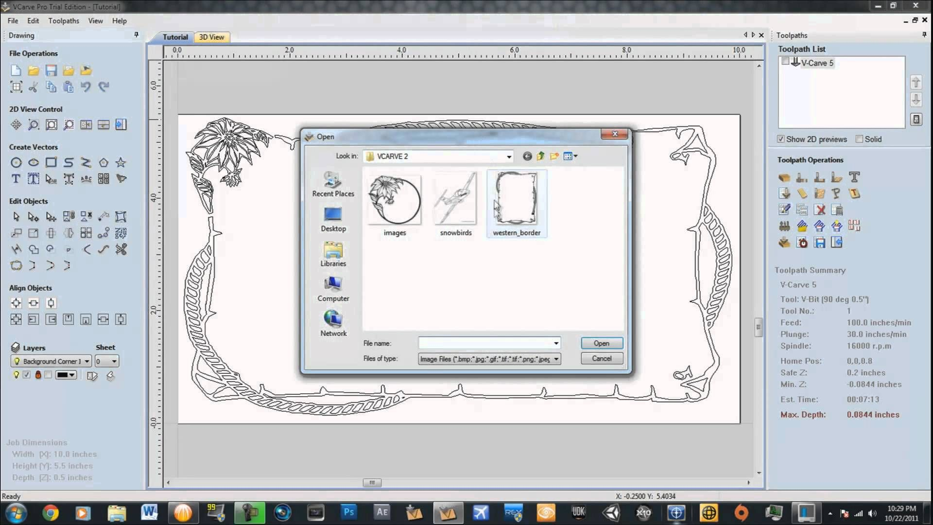 VCarve Tutorial | cnc | Cnc software, Diy cnc, Cnc controller