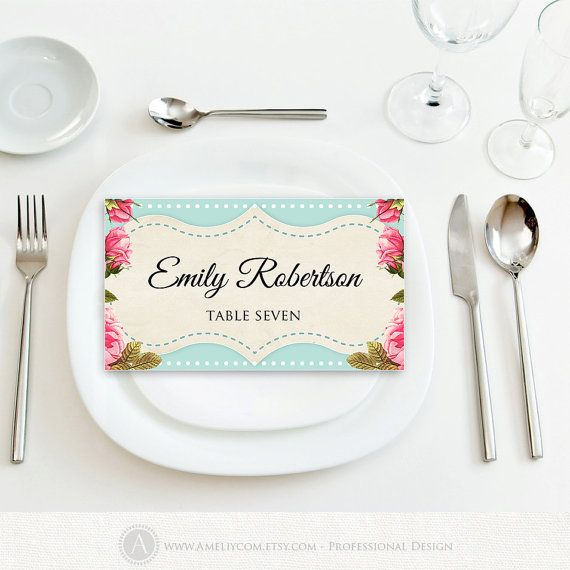 wedding name tag template