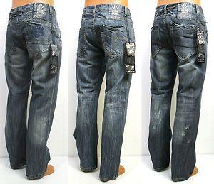 5c6059ad Men's Stone Touch Straight Leg Blue Jeans Size 32 34 36 38 40 42 44 x 32 34  | eBay