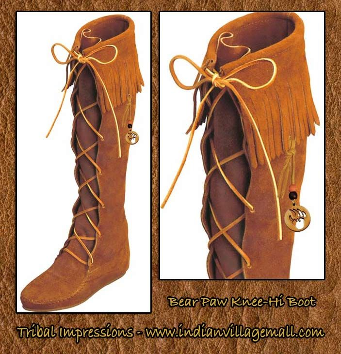 Native American Moccasins for Women | Indian Moccasins Boots For Men