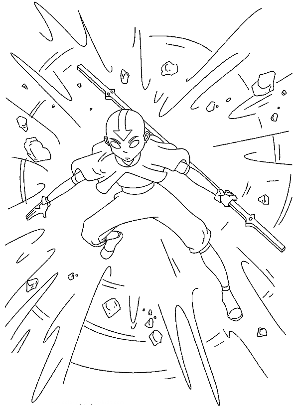 avatar coloring page 4 is a coloring page from avatar coloring booklet your children express their imagination when they color the avatar coloring page