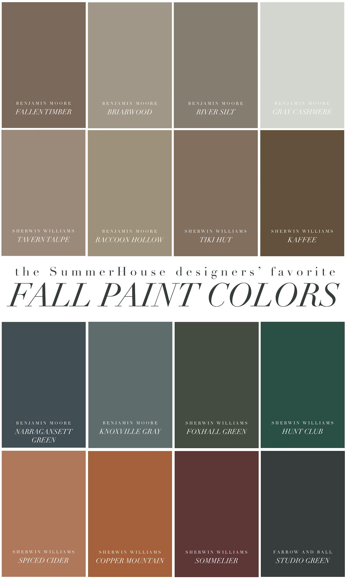 Our Favorite Fall Paint Colors Fall Paint Colors Autumn Painting Paint Colors