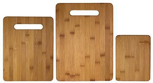Bamboo Cutting Board 3 Piece Set Totally Bamboo, Brown NEW #TotallyBamboo