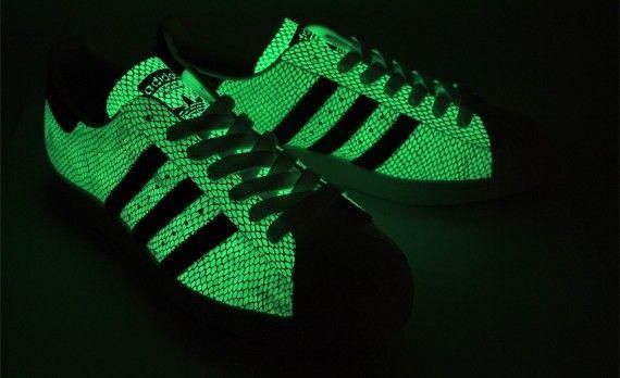 atmos x adidas superstar 80s glow in the dark snake