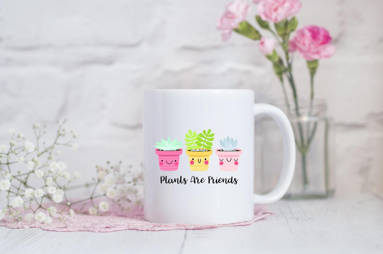 Plants are friends coffee mug products easter gift plants are friends mug best friend gift vegan gift idea negle Choice Image
