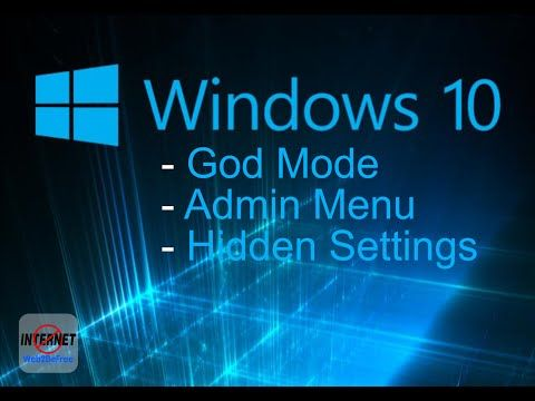 How to access GodMode hidden feature in Windows 10
