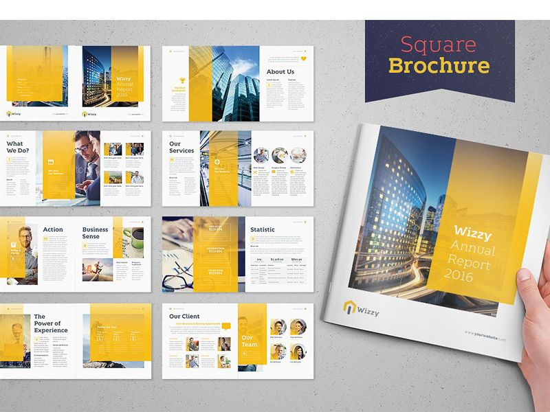 Wizzy Brochure Square Square Brochures Brochure Template Indesign Brochure Templates