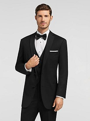 Groom final black by vera wang black notch lapel his side vera wang black tuxedo tuxedo rentals by mens wearhouse junglespirit Images